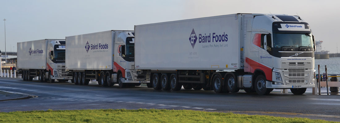 Baird Foods refrigerated lorries